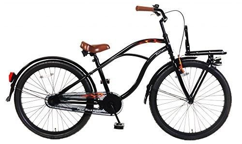 24 Zoll Popal Black Fighter Jungen Cruiser Fahrrad, Farbe:schwarz -