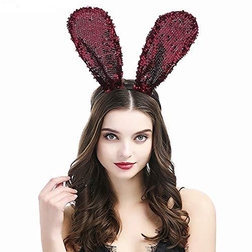 Unbekannt Cute Kaninchen Ohren Kopfband, Haar Hoop für Kinder Kinder Erwachsene, Haarband Deko - Häschen Anzug Für Erwachsene Kostüm