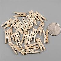 Nouvelle qualité Environ 50 pcs mini pince à linge en bois mignon photo clip