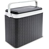 Large 24 Litre Cooler Rattan Box Camping Beach Lunch Picnic Insulated Food