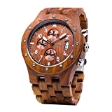 Best Chronograph Watches - Wooden Watch Men Chronograph, Bewell W109D Gents Chronograph Review