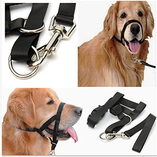 Bluelover cani cucciolo nylon regolabile fibbia controllo muso abbaiare ventilazione nero - xl