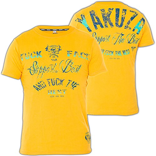 Yakuza T-Shirt TSB-304 Gelb Gelb