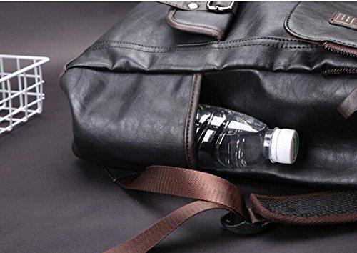HTRPF Umhängetasche Student Computer Rucksack Männer Reisetasche Mode Sport Outdoor Tasche Black
