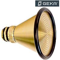 """GEKA 5051SB - Alcachofa de Ducha con Rosca Macho G 3/4"""" y Anillo de Protección de Goma (103 mm), Color Dorado y Negro, 18 x 8 x 13 cm"""