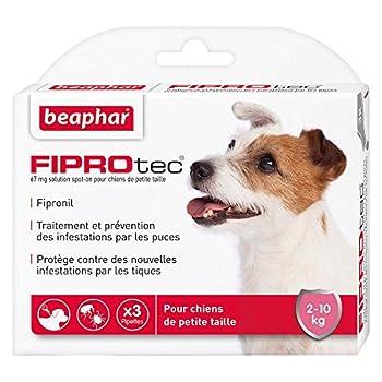 Beaphar FIPROtec, Pipettes Anti-Puces et Anti-tiques au Fipronil - Chien DE 2 à 10 kg - 3 Pipettes