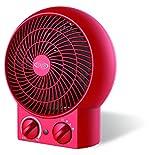 Argoclima Twist Red Termoventilatore Tradizionale da Tavolo, Rosso
