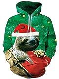 Idgreatim Uomini Donne Winter Outdoor Hoodies Felpe con cappuccio Maglione con maniche lunghe con tasche L