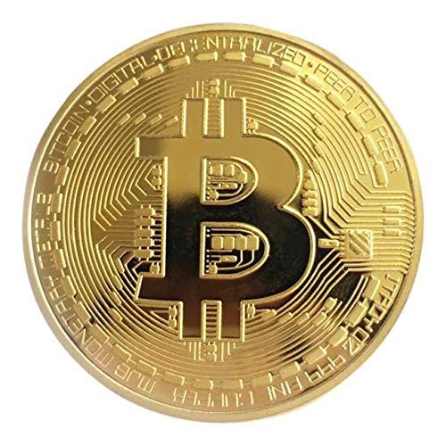 Pudincoco goldene/Silberne Bitcoin-Münze Bronze physische Bitcoins-Münze sammelbare BTC-Münze Kunstsammlung physisches Feiertags-Dekorations-Geschenk