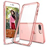 Custodia iPhone 7 Plus / iPhone 8 Plus, Ringke [FUSION] Crystal Clear PC Ritornare TPU [Goccia di protezione / Shock tecnologia ad assorbimento] Cresciuto Protective Cover Bezels per Apple iPhone 7 Plus - Rose Gold Crystal