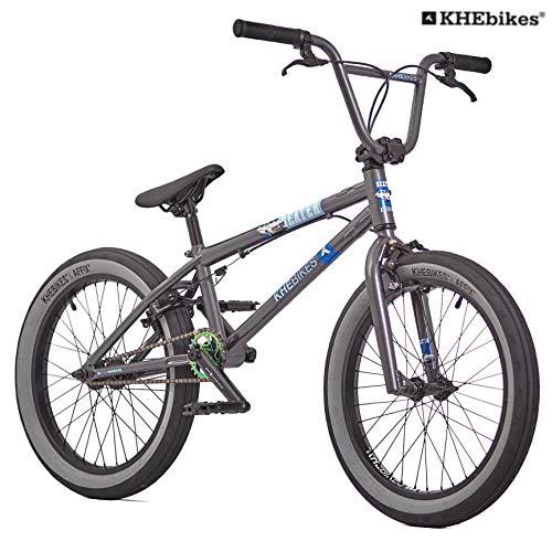 KHE BMX Fahrrad Beater patentierter Affix 360° Rotor 20 Zoll nur 11,2kg! schwarz grau (grau)