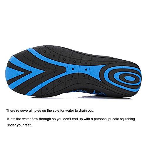 YIRUIYA Damen Herren Aquaschuhe Schnelltrocknende Wasserschuhe Unisex Strandschuh mit Rutschfeste Sohlen Schwarz-Gr¨¹n
