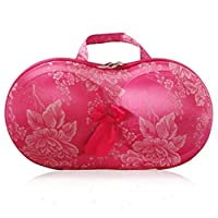 LifeJoy Protect Bra Underwear Lingerie Case Storage Travel Organizer Bag (Rose&Peony)4 Bras in total,Different pattern is ok! The 5th will be given as a gift (random pattern)