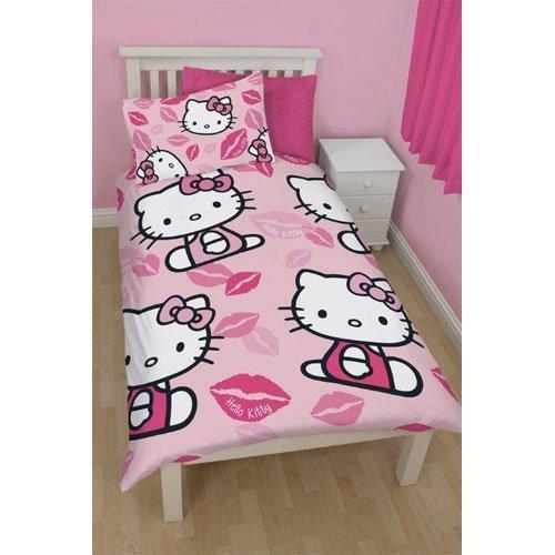 Producto oficial Hello Kitty Kiss edredón de cama niños globalpowder dormitorio