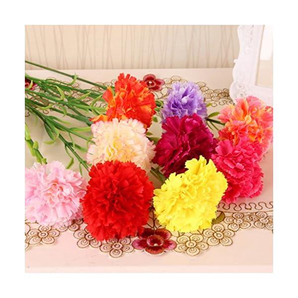 bhty235, arbusto de flores artificiales, 10 unidades de flores artificiales de clavel para novia, dama de honor, boda…
