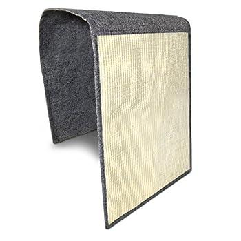 Navaris Tapis griffoir pour Chats - Protection canapé Meuble Sol Mur - Tapis en sisal et Lin - 130 x 45 cm - Adapté pour Chaton Chien