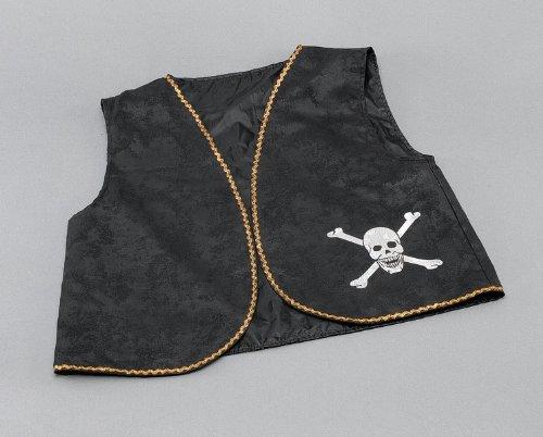Distressed Black PIRATE WESTE FANCY DRESS Erwachsenen