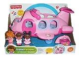 Fisher-Price L5200 - Little People Little Movers Pink Airplane - Kommt mit 3 Figuren - Elektronisches Spielzeug