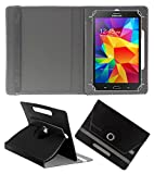 ACM ROTATING 360° LEATHER FLIP CASE FOR SAMSUNG GALAXY TAB 4 T231 TABLET TABLET STAND COVER HOLDER BLACK