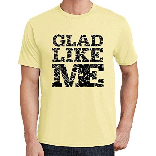 glad-like-me-camiseta-para-las-hombres-manga-corta-cuello-redondo-amarillo