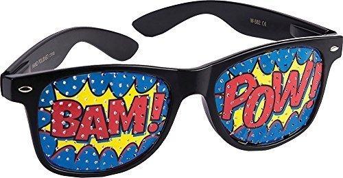 tz Kostüm Party Zubehör Pop Art Pow Abgeschirmt Sonnenbrille (Pop-art-kleid)
