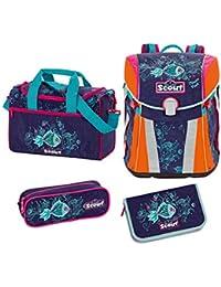 eb96b41097d60 Scout - Sunny - Schulranzen Set 4 tlg. - Picasso Fisch