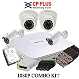 Cp plus 4 channel dvr+2qty 2mp dome+2qty...