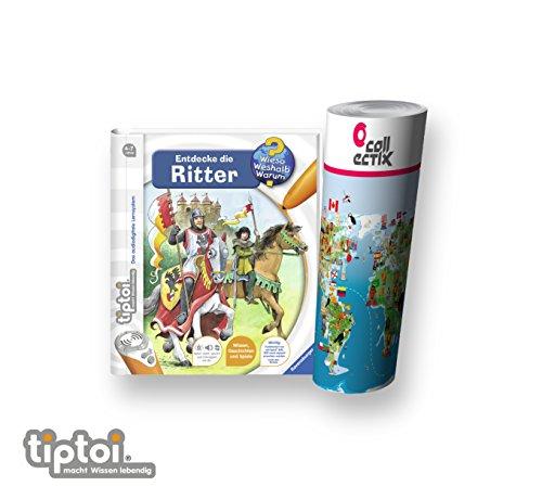 Ravensburger ® tiptoi Buch - Entdecke die Ritter + Kinder Weltkarte - Länder, Tiere, (Kampf Kostüm Elf)