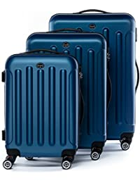 FERGÉ® valise trolley variété de couleurs et de tailles LYON bagages rigide 4 roues 360 degrés