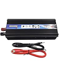 Car Power Inverter–xuyuan 2000W Auto Fahrzeug USB DC 12V/24V auf AC 220V Power Inverter Adapter Konverter Schwarz, 24V-220V