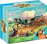 Playmobil- DreamWorks Spirit Riding Free Giocattolo Padre di Lucky con Carro, Single, Multicolore, 9477