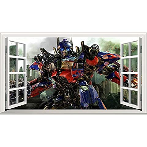 "Transformers Optimus Prime-Adesivo da finestra """", 1000 mm x 600 mm (grande) V2"