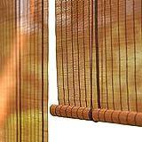 Bambusrollo Rollos Für Fenster Und Türen, 60% Lichtfilterung Vertikaler Blackout,Jalousien Aus Bambus Mit Seitenzug (größe : 120×180cm)