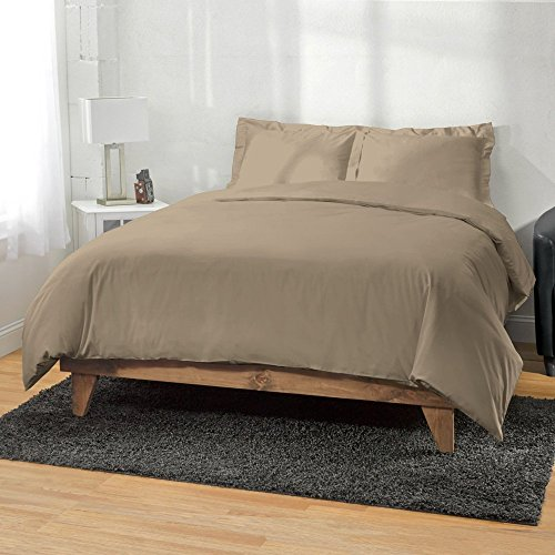 gyptische Baumwolle Fadenzahl 4003-teiliges Bettbezug durch Ägyptische Baumwolle, atmungsaktiv und bequem, Queen, schwarz, ägyptische Baumwolle, taupe, King/CalKing ()