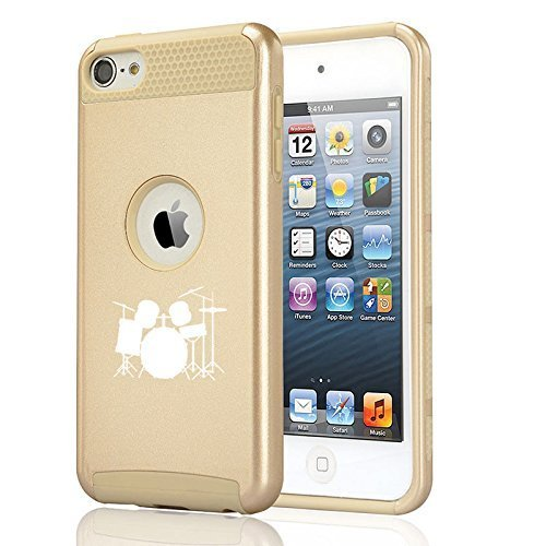 apple-ipod-touch-5th-6th-shockproof-impact-hard-soft-case-cover-drum-set-gold-
