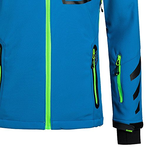 Geographical Norway Herren Softshelljacke Terouma abnehmbare Kapuze Blue/Green