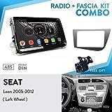 UGAR EX9-VW 9' Android 9.0 Car Stereo Radio Plus 11-609 Fascia Kit for Seat Leon 2005-2012