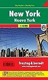 New York, Stadtplan 1:18.000, City Pocket + The Big Five, freytag & berndt Stadtpläne: Stadskaart 1:18 000
