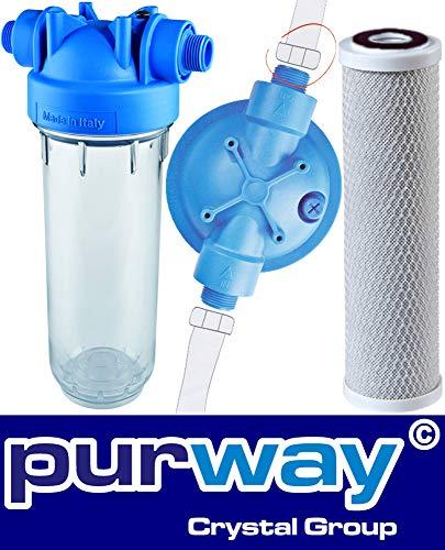 """MP-CB Untertisch Wasserfilter 1/2"""" Carbon-Block Chlor Pestizide Insektizide"""