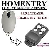 HOMENTRY PS94331 compatible mando a destancia 433,92Mhz rolling code, reemplazo transmisor Al mejor precio!!!