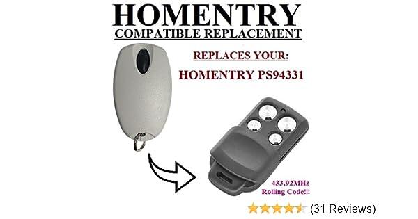 433 Mhz Handsender Fernbedienung kompatibel zu Homentry HE4331