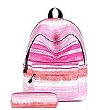 HCFKJ Schultasche, Schultaschen für Teenager-Mädchen-Schulter-Kordelzug-Taschen (B)