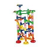 Sharplace 74-teiig Kinder Kunststoff Spielwaren Kugelbahn Murmelbahn Lernspielzeug Motorikspielzeug für Kinder Unter 3 Jahren