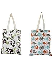Dekor World Cotton Tote Jhola Bags (Pack Of 2 Pcs)
