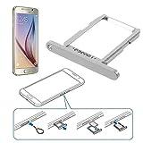 Tiroir pour carte SIM, Nano SIM pour Samsung Galaxy S6G920Argenté