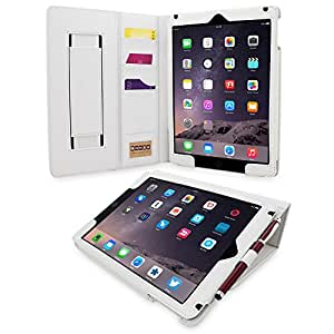 iPad Air Case, Snugg™ 'Executive' White Leather Smart Case Cover with Flip Stand [Lifetime Guarantee] for Apple iPad Air 1 With Auto Wake & Sleep