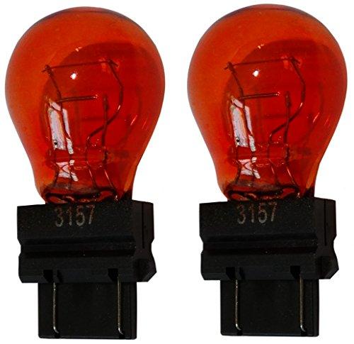 AERZETIX: 2X Ampoule 12V 3157 W2.5x16Q P27/7W Orange Ambré
