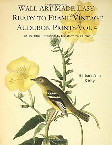Wall Art Made Easy: Ready to Frame Vintage Audubon Prints Vol 4: 30 Beautiful Illustrations to Transform Your Home
