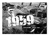 DigitalOase 2 Einladungskarten 1959 60. Geburtstag 60. Jubiläum INNENTEXT Geburtstagskarten 2 Klappkarten 2 Kuverts Format DIN A6#OLDIE