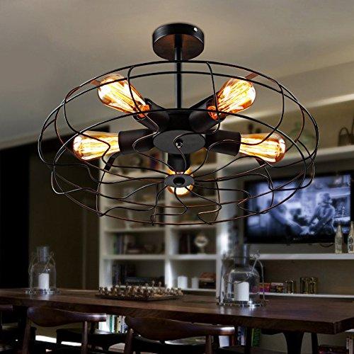 Deckenventilatoren mit Beleuchtung Kronleuchter LOFT Industrie Hänge- & Pendelleuchten Wrought Lamp Shades 5 E27*5 220V D50*H26CM
